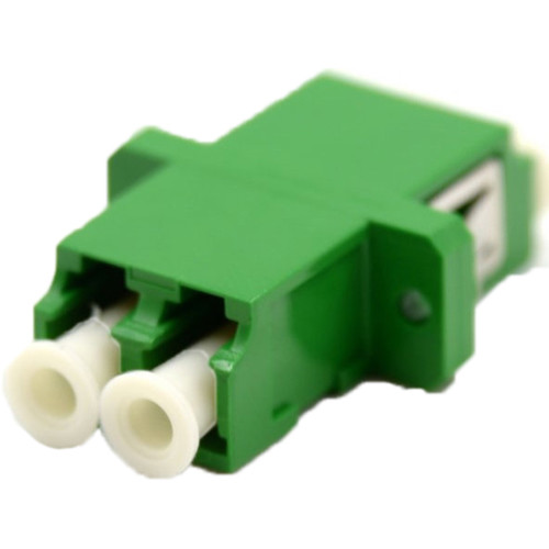 Camplex LC to LC Duplex Singlemode APC Flanged Adapter (Green)