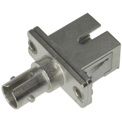 Camplex ST to SC Simplex Singlemode Coupler with Flange Ceramic Sleeve & Metal Body