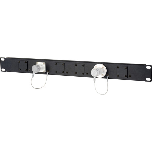 Camplex HF-1RU-06X 1RU 6-Position Universal SMPTE Feedthru Panel (Black)