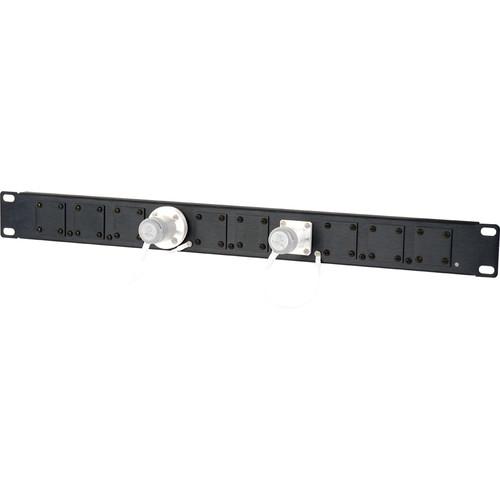 Camplex HF-1RU-10X 1RU 10-Position Universal SMPTE Feedthru Panel (Black)