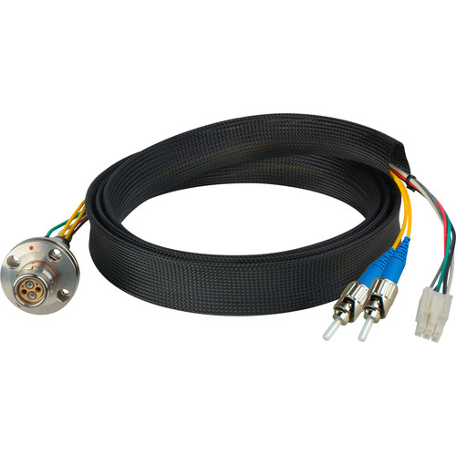 Camplex FCS015A-FR Hybrid Fiber Optic Receptacle Breakout Cable SMPTE/ARIB with ST Female Connector (1')