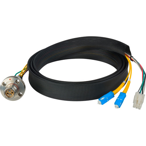 Camplex FCS015A-FR Hybrid Fiber Optic Receptacle Breakout Cable SMPTE/ARIB with SC Female Connector (3')