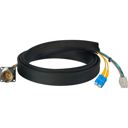 Camplex FCS015A-FR Hybrid Fiber Optic Receptacle Breakout Cable SMPTE/ARIB with SC Male Connector (3')