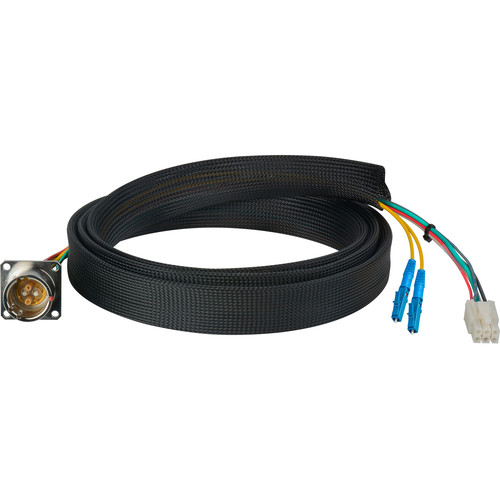 Camplex FCS015A-FR Hybrid Fiber Optic Receptacle Breakout Cable SMPTE/ARIB with LC Male Connector (6')