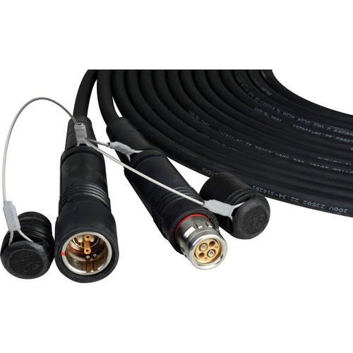 Camplex SMPTE Hybrid FUW/PUW LEMO Gepco Outdoor Fiber Cable (10 ft)