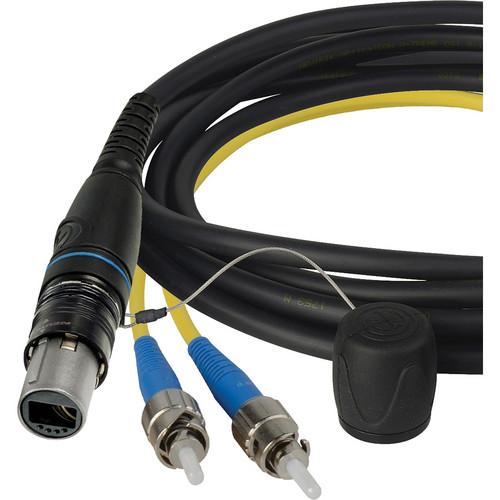"Camplex SMPTE opticalCON DUO to Duplex ST Multimode Fiber Breakout Cable (18"")"