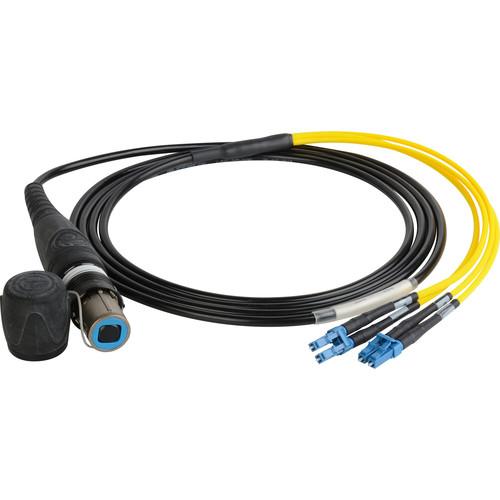 Camplex opticalCON Quad NO4SX to Quad LC Single-Mode Fiber Breakout Cable (100')
