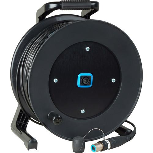 Camplex opticalCON QUAD SM Fiber Optic Tactical Reel Connectorized Hub (500')