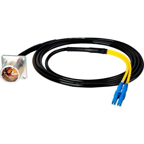 Camplex LEMO PBW to Duplex LC In-Line Fiber Optic Breakout Cable (25')