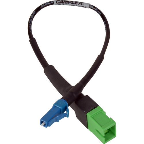 """Camplex APC SC Female to UPC LC Male Singlemode Fiber Tactical Adapter Cable (6"""")"""