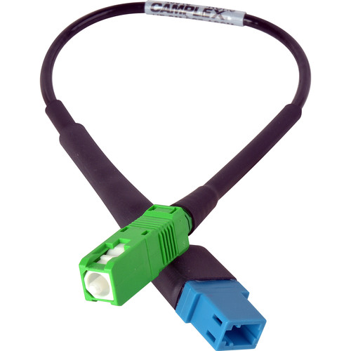 "Camplex UPC LC Female to APC SC Male Singlemode Fiber Optic Tactical Adapter Cable (6"")"