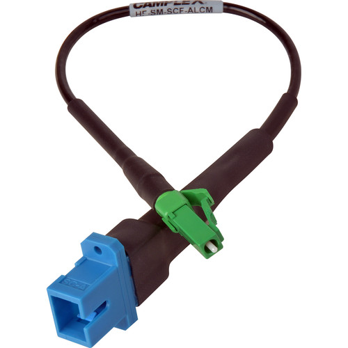 """Camplex UPC SC Female to APC LC Male Singlemode Fiber Optic Tactical Adapter Cable (6"""")"""