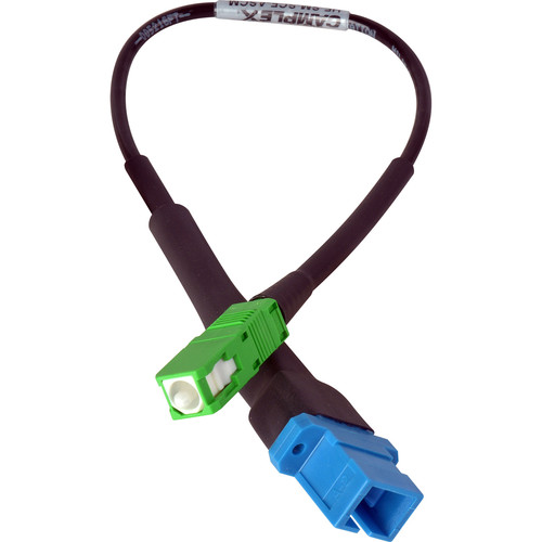 "Camplex UPC SC Female to APC SC Male Singlemode Fiber Optic Tactical Adapter Cable (6"")"