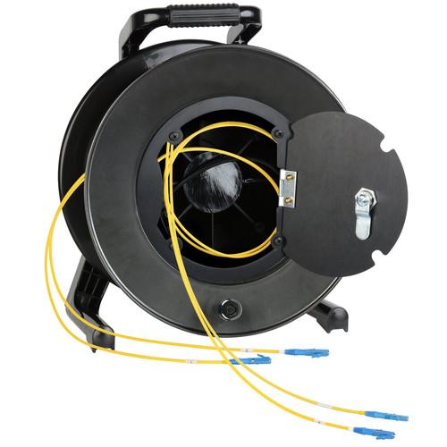 Camplex Duplex LC Single-Mode Fiber Optic Tactical Snake Reel (100')