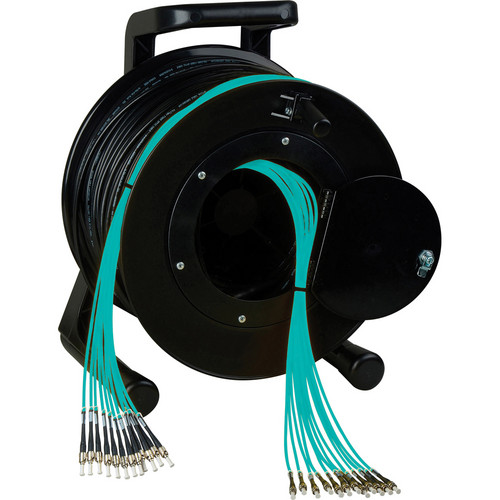 Camplex OM3 4-Ch Multimode Tactical Fiber LC Snake Cable & Reel (500')
