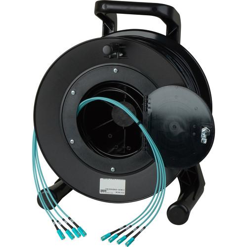 Camplex OM3 4-Ch Multimode Tactical Fiber SC Snake Cable Reel (100')