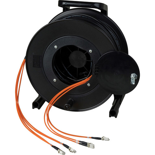 Camplex OM1 4-Ch Multimode Tactical Fiber ST Snake Cable Reel (1250')