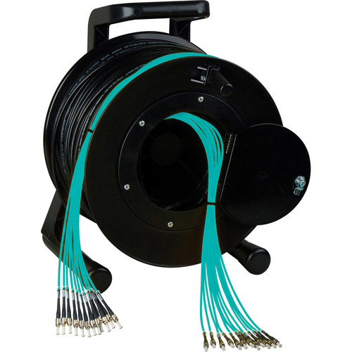 Camplex OM3 8-Ch Multimode Tactical Fiber ST Snake Cable Reel (2000')