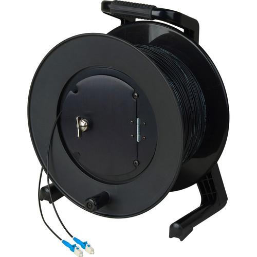 Camplex Simplex Single-Mode LC Fiber Optic Tactical Cable Reel (1000')