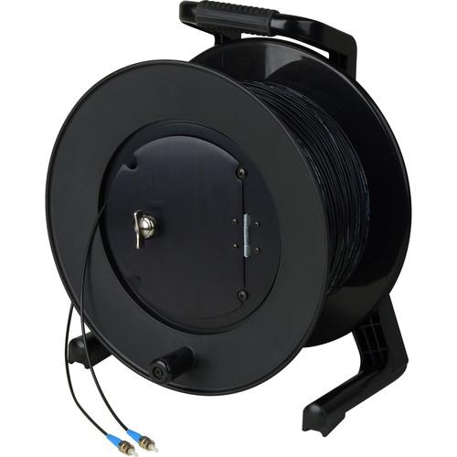 Camplex Simplex Single-Mode ST Fiber Optic Tactical Cable Reel (250')
