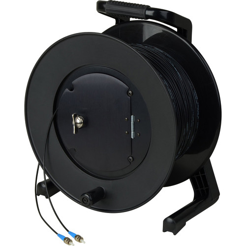 Camplex Simplex Single-Mode ST Fiber Optic Tactical Cable Reel (500')