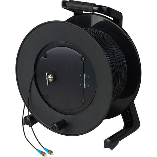 Camplex HF-TR1SM-ST-2000 Simplex Singlemode ST Fiber Optic Tactical Cable on JackReel-F4 Reel (2000')