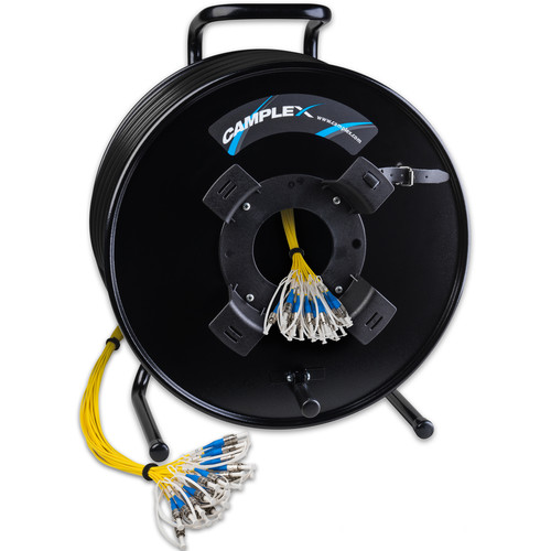 Camplex 24-Channel LC Singlemode Tactical Fiber Optic Cable on Reel (1500')