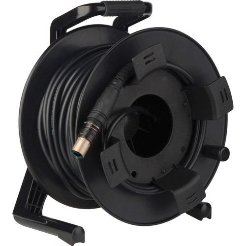 Camplex opticalCON DUO to DUO Multimode X-TREME Fiber Tactical Cable Reel (250')