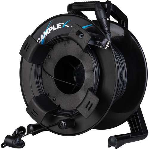 Camplex opticalCON LITE DUO Multimode Fiber Optic Tactical Cable Reel (250')
