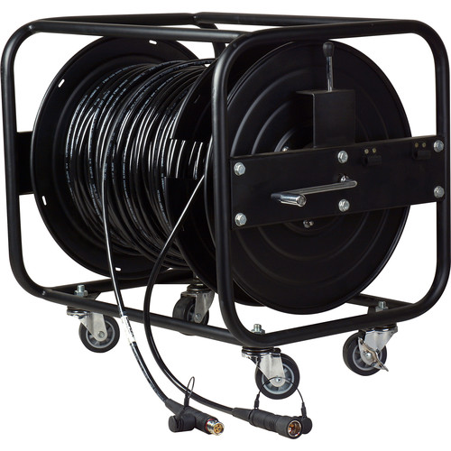 Camplex LEMO FUW-PUW Camera Cable with Hitachi Bend Insensitive Outside Broadcast SMPTE Fiber on JackReel XL1 (1000')