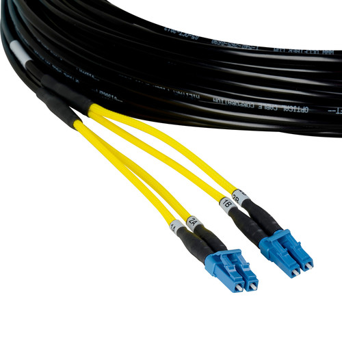 Camplex Two-Channel LC Single-Mode Fiber Tactical Snake Cable (50')