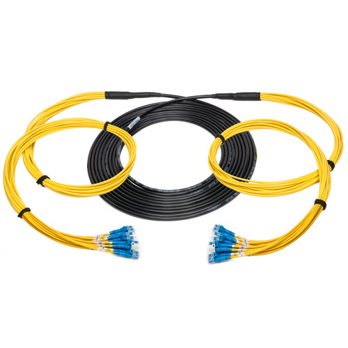 Camplex 75' 12-Channel LC Single-Mode Tactical Fiber Optical Snake Cable