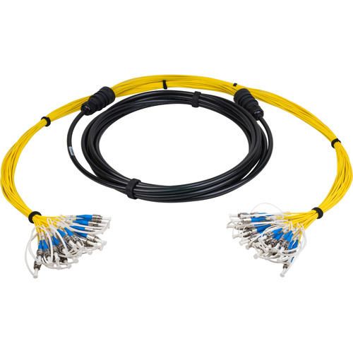 Camplex 24-Channel LC Singlemode Tactical Fiber Optical Cable (25')