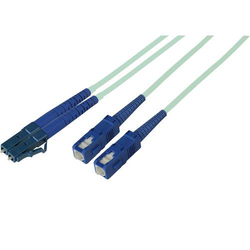 Camplex OM3 Duplex LC to SC Multimode 50um Cable (164', Aqua)