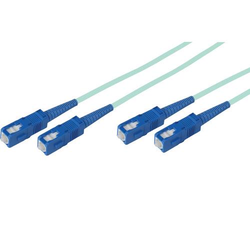 Camplex Duplex SC to Duplex SC Multimode Fiber Optic Patch Cable (1476.4', Aqua)
