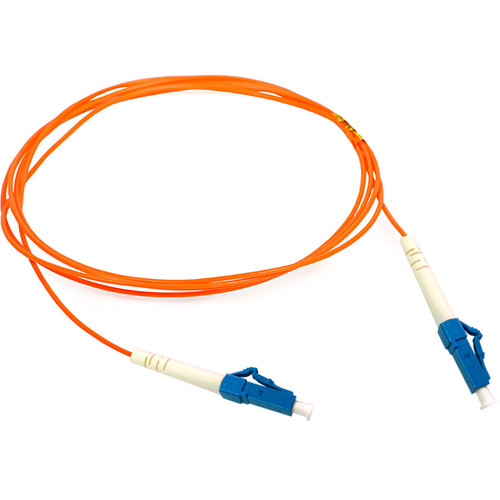 Camplex Duplex LC to Duplex LC Multimode Fiber Optic Patch Cable (164', Orange)