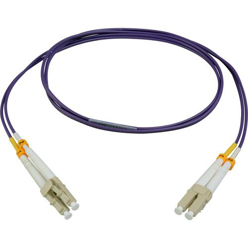 Camplex Duplex LC to Duplex LC Multimode Fiber Patch Cable (16.4', Purple)