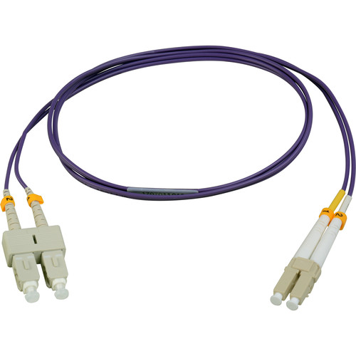 Camplex Duplex LC to Duplex SC Multimode Fiber Patch Cable (3.28', Purple)