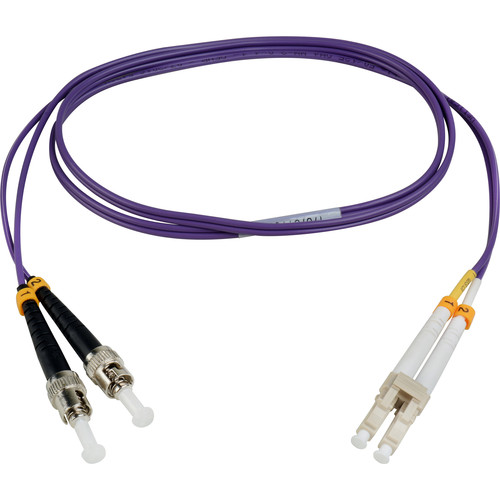 Camplex Duplex LC to Duplex ST Multimode Fiber Patch Cable (9.84', Purple)