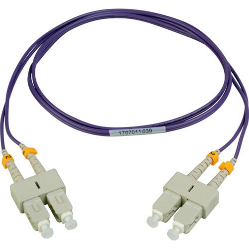 Camplex Duplex SC to Duplex SC Multimode Fiber Patch Cable (3.28', Purple)