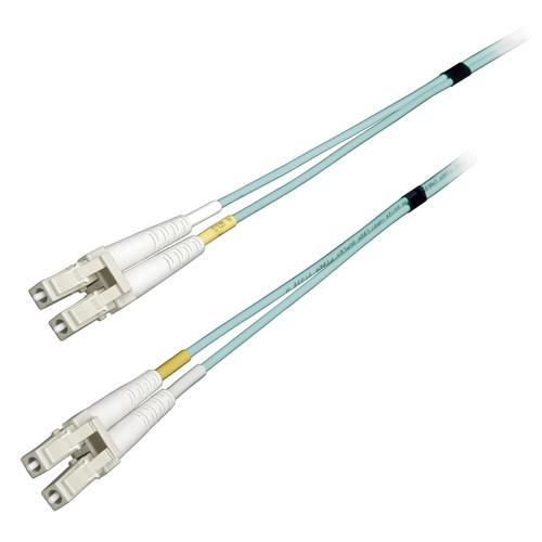Camplex Simplex LC to LC Multimode Fiber Optic Patch Cable (65.6', Aqua)