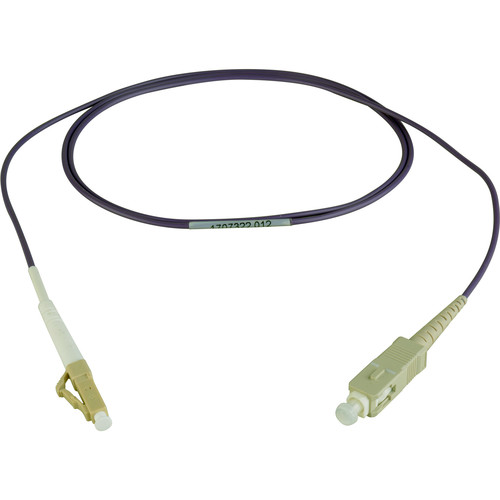 Camplex Simplex LC to Simplex SC Multimode Fiber Patch Cable (3.28', Purple)