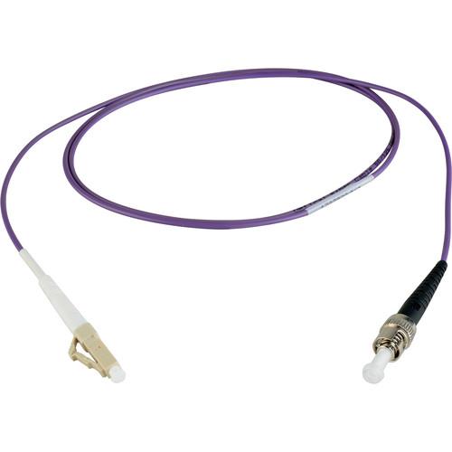 Camplex Simplex LC to Simplex ST Multimode Fiber Patch Cable (6.5', Purple)