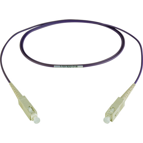 Camplex Simplex SC to Simplex SC Multimode Fiber Patch Cable (16.4', Purple)