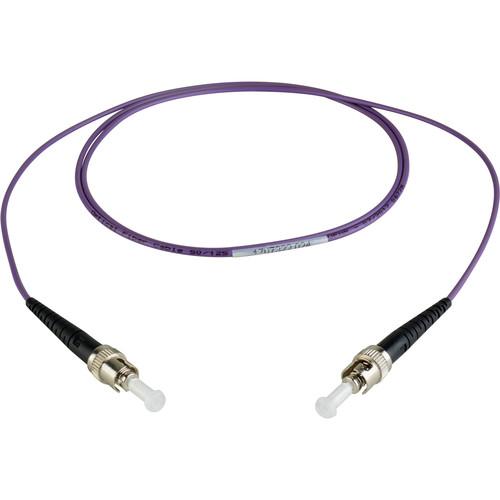 Camplex Simplex ST to Simplex ST Multimode Fiber Patch Cable (32.8', Purple)