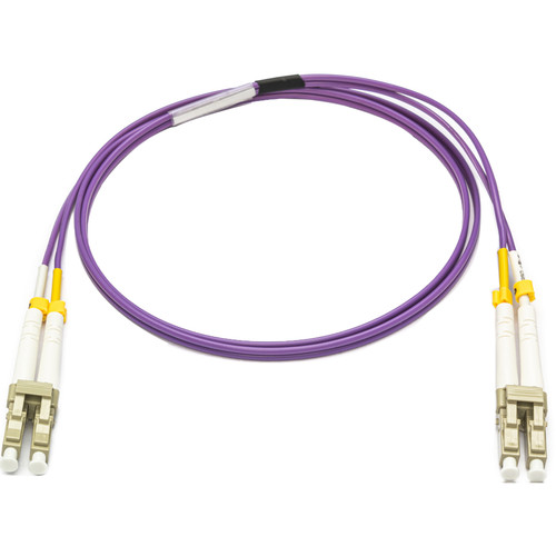 Camplex OM4 10/40/100G Multimode Duplex LC to LC Armored Fiber Patch Cable (3.3', Purple)