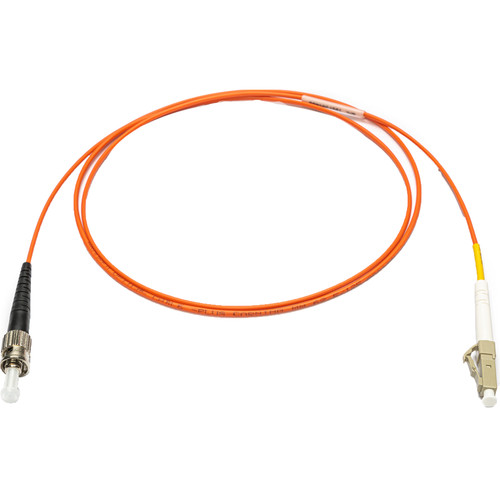 Camplex 62/125 Multimode Simplex ST to LC Armored Fiber Optic Patch Cable (9.8', Orange)
