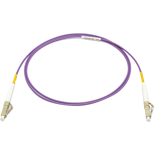 Camplex OM4 10/40/100G Multimode Simplex LC to LC Armored Fiber Patch Cable (32.8', Purple)