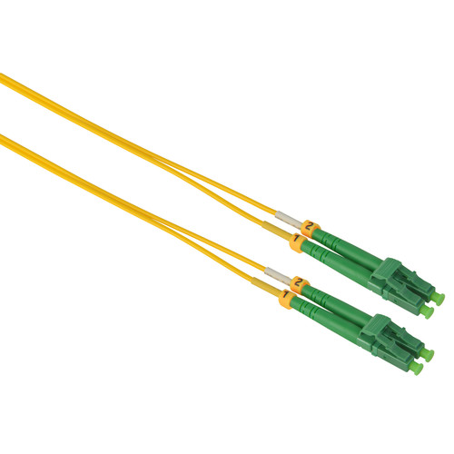 Camplex Duplex APC LC to APC LC Singlemode 9u/125u Fiber Optic Patch Cable (16.4', Yellow)