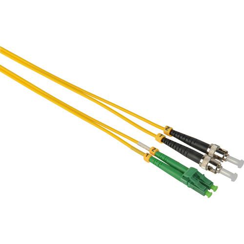 Camplex Duplex APC LC to UPC ST Singlemode 9u/125u Fiber Optic Patch Cable (16.4', Yellow)